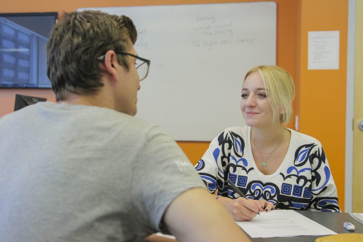 advisor and student