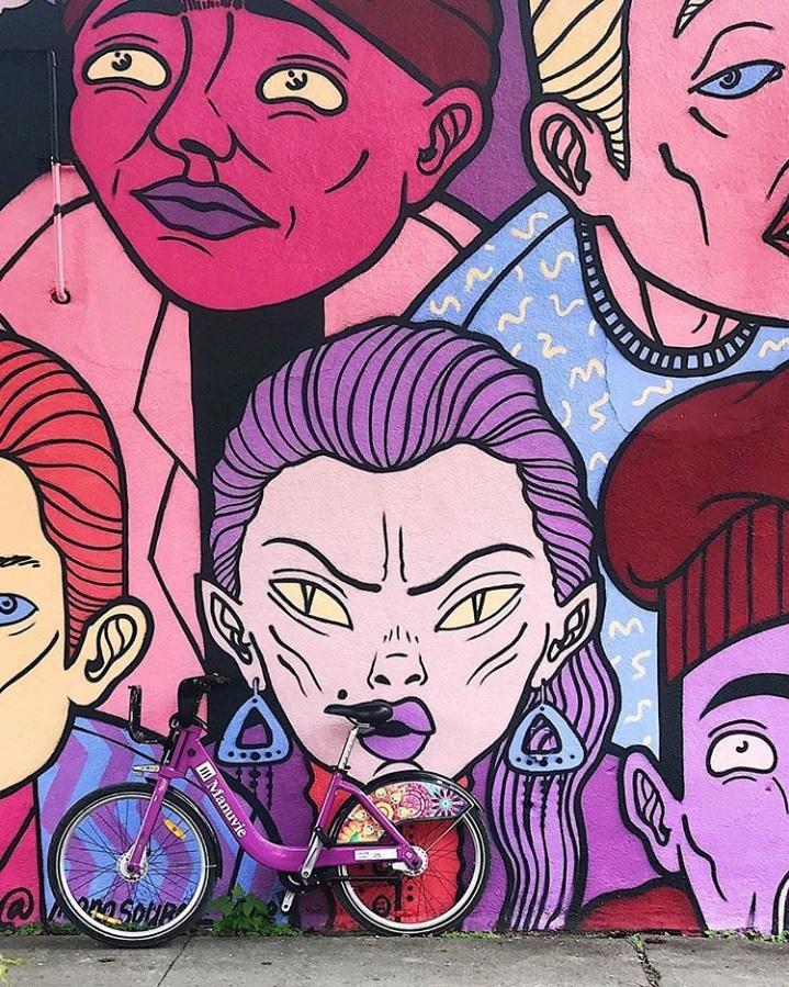 biking and murals montreal