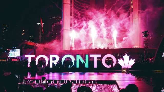 Toronto City at night - Toronto Sign