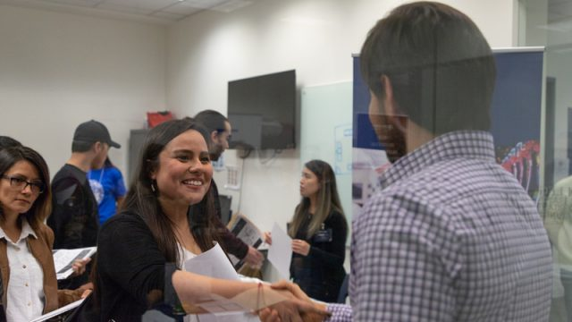Students get a chance to network with one another, and potential employers at Greystone College Career Fairs