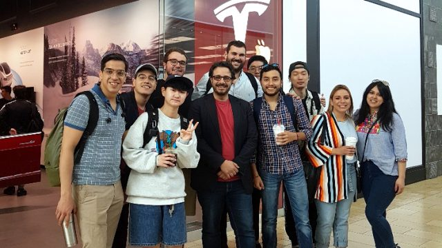 In Toronto, Diploma in International Business Management Students get to explore TESLA and ask lots of questions.