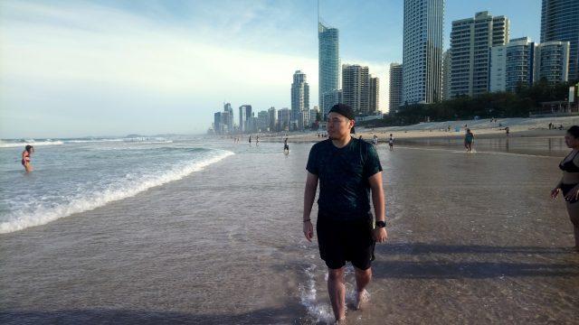 Eddie by the ocean: Greystone College Brisbane