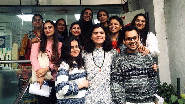 Sergio in his practicum with ILSC-New Delhi Colleagues