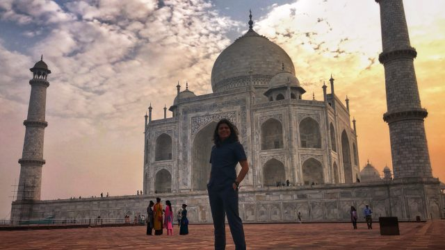 Sergio at the Taj Mahal
